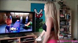 Girl loses video game...