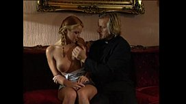 Young blonde lolita punished and fucked by pervert priest sex image
