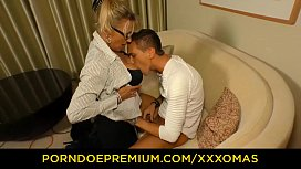 XXX OMAS - German blonde Milf Lana Vegas fucked doggy by young boy
