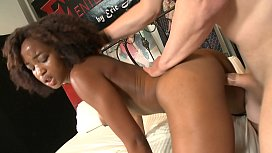 Ebony queen Ivy Sherwood wants big cock in her wide and wet pussy