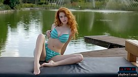 Naturally curved Redhead beauty...