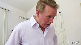 Petite Young Honey Gold Fucks Her Stepdad After Helping Him Dress for Mom
