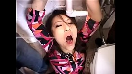 Japanese girl bound in the toilets begs for piss xxx video