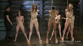 Bdsm contest for different slaves in dungeon xxx video