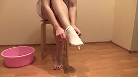 The best pissing and foot fetish, the compilation of a golden shower from a hairy pussy in different poses. xxx video