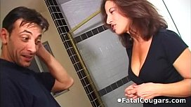Hot cougar convinces the...