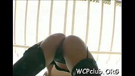Black booty engulfing cock...