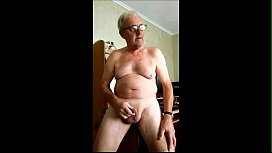 Undressing and wanking my prick