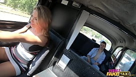 Female Fake Taxi Shalina Devine faces sitting on her customers face until she cums