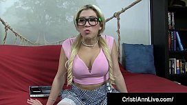 Hot Young School Girl Cristi Ann Gives A Nerd Blue Balls!