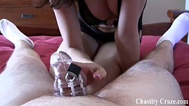 Locked in a chastity...