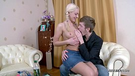 Creampied pure young blonde...