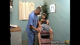 Horny patient Phenix gets...