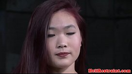 Asian amateur tied up and toyed by maledom