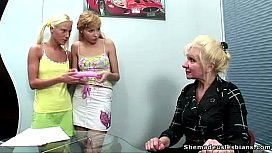Two blonde russian teens...