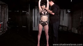 Tied amateur slave Louise...