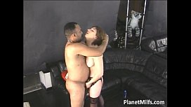 Nice looking milf got her hairy pussy
