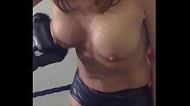 Fake Tits Punched in...