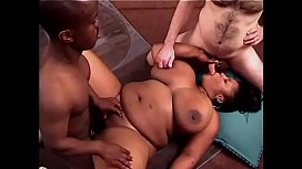 Interracial freak fest ends with cum covered tits