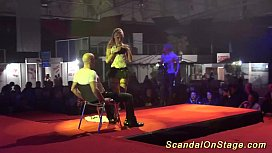 Scandal on public stage...