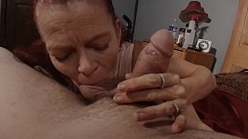 Tony'_s m. (Mrs. S) pays the interest by blowing, rim job, oral cream pie.  Throat pie