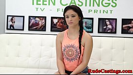 Real teen roughfucked at...