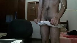 Hairy man cumming