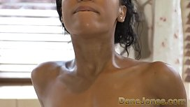 Dane Jones Amazing blowjob and hot tub fuck with pretty young ebony girl