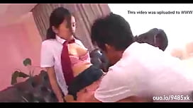Dad Punishes the Pretty Tiny Teenage Schoolgirl