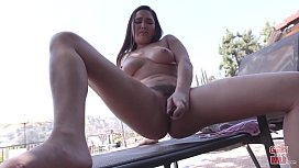 GIRLS GONE WILD - Sexy Teen Amy Plays With Her Shiny New Toy