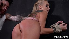 Inked Fantasy Kayla Green gets Bound & Fucked at Tattoo Parlor