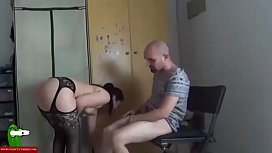 Fucking with lingerie on the chair. SAN167