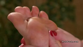 Lesbian feet and whole...