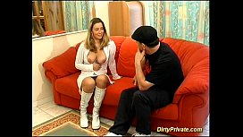 French teen first anal...
