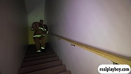 Hot woman gets fucked by pervert fireman