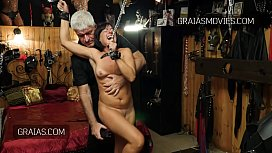 Slave shakes uncontrollably while being shocked xxx video