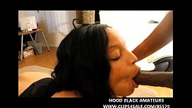 HOT EBONY TAKES 2 BIG BLACK DICKS IN EVERY HOLE & GETS 2 CUMSHOTS TO THE FACE