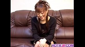 Mai does handjob after exposing tits and having cunt aroused - More at hotajp com