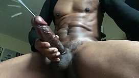 Thick BBC stroke and cum