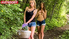LETSDOEIT - Beautiful Babes Enjoy Their Pussies at The Picnic (Angel Piaff & Sybil)
