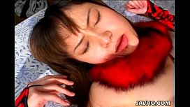 Firm tit hottie Jun Misaki gets the biggest creampie ever!