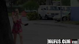 Mofos - Public Pick Ups - Natural Gal Gets Paid for Blowjob starring  Lena Paul