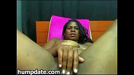Chubby black babe with...