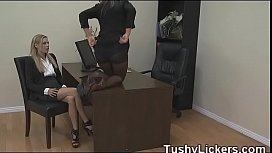 Office ass licking