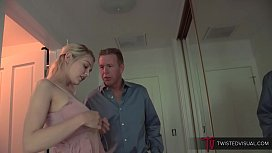 Horny Step Daughter wants to feel her Step Father's Cock Deep Inside her Young Little Pussy - /w Alli Rae