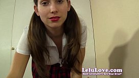 In schoolgirl outfit she sucks YOUR cock then rides it to a facial