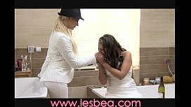 Lesbea Young bride changes...