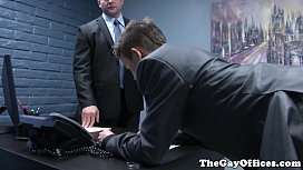 Gaysex boss spanks and...