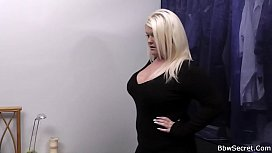 Blonde bbw cheating with...