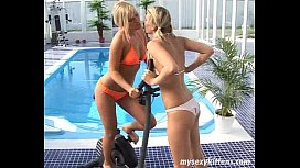 Blond teens Tara and...